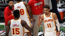 NBA: Hawks in ansia, infortunio per Young