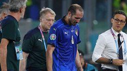 Infortunio per Chiellini contro la Svizzera: dentro Acerbi