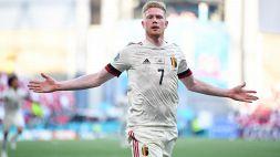 Danimarca-Belgio 1-2, De Bruyne ribalta la partita: le pagelle