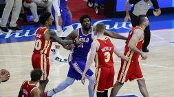 Embiid sovrasta Gallinari: i 76ers non fanno scappare Atlanta