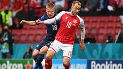 Euro 2020: dramma Eriksen, malore in campo