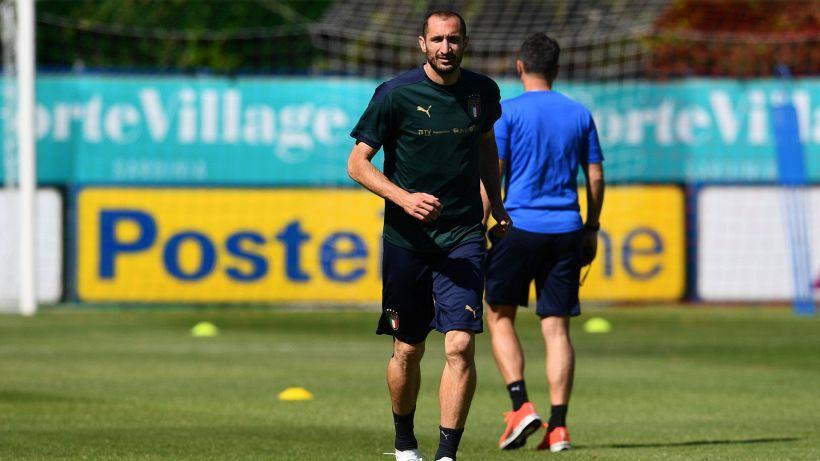 L'ultimo allenamento prima di Italia-Austria: Chiellini in gruppo, out Florenzi