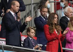 Euro 2020, principe William e Kate a Wembley tifano Inghilterra