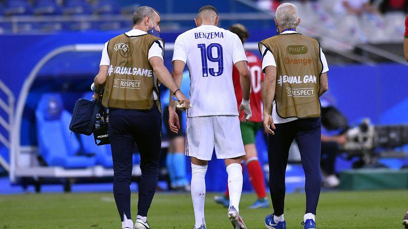 Francia, ansia per l'infortunio di Benzema contro la Bulgaria