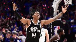 NBA: fenomenale rimonta dei Clippers, Atlanta-Philadelphia 3-3