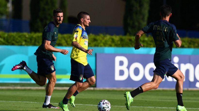 Italia, Verratti in campo nel test con il Pescara Primavera