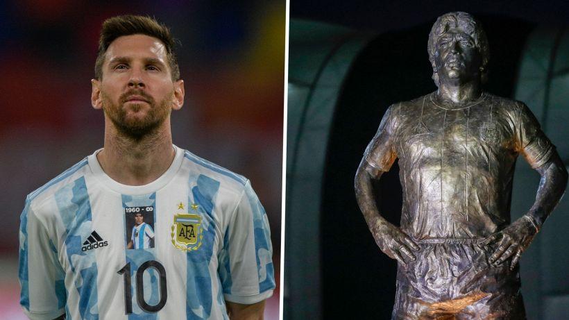 La notte dell'Argentina: tributo a Maradona poi il pareggio con il Cile