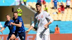 Slovacchia-Spagna, Morata in difficoltà: rigore sbagliato