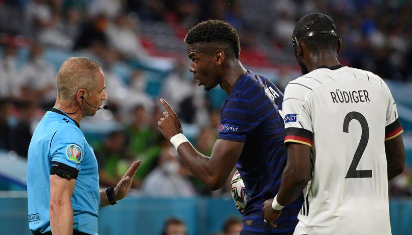 Euro 2020, il morso di Rudiger a Pogba è un caso: Uefa pronta