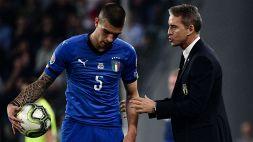 Gianluca Mancini lascia il ritiro della Nazionale: problema al piede