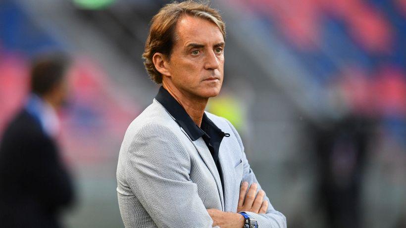 """Mancini sull'11 anti-Svizzera: """"Dubbio Di Lorenzo-Toloi, per Verratti vediamo"""""""