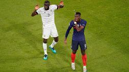 Euro 2020, Francia-Germania: le parole di Rudiger sul morso a Pogba