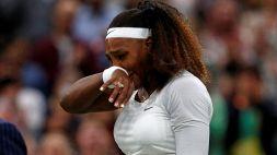 Infortunio per Serena Williams: addio a Wimbledon in lacrime