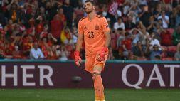 Croazia-Spagna, errore clamoroso di Unai Simon: liscio e autorete