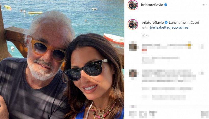 Flavio Briatore raggiunge Elisabetta Gregoraci a Capri: l'annuncio