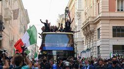 Euro 2020, i festeggiamenti degli Azzurri per Roma: le foto