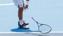 Olimpiadi: Fabio Fognini out lancia la racchetta e sbotta per il caldo
