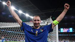"""Italia, Chiellini ha """"stregato"""" Saka sul rigore decisivo"""