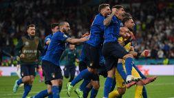Italia-Inghilterra 3-2 dcr: trionfo azzurro a Euro 2020