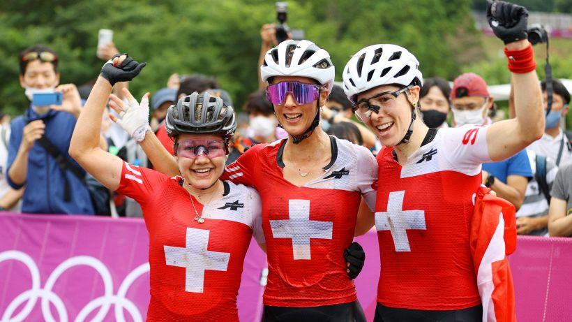 Tokyo 2020, MTB donne: tripletta svizzera