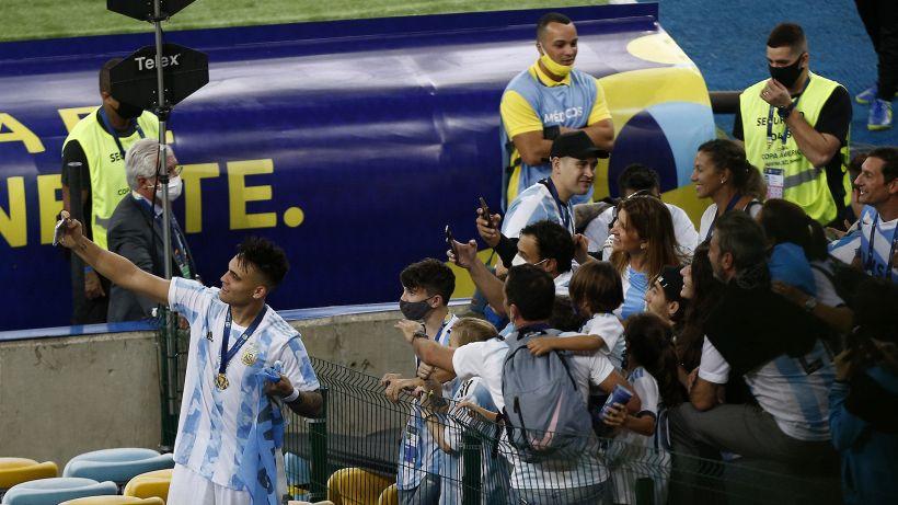 """Argentina, Lautaro Martinez: """"Vincere in Brasile fa godere doppio"""""""