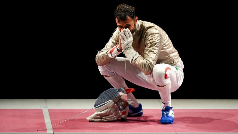 Tokyo 2020, sciabola maschile: Luigi Samele splendido argento