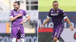 Fiorentina, doppio addio: salutano Ribery e Caceres