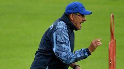 """Lazio, Sarri sgrida Hysaj: """"Se alzi la palla, rigore contro"""""""