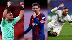 Mercato: Messi, Ramos e Donnarumma, quanti affari a parametro zero