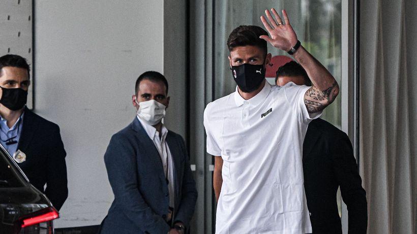 Giroud è arrivato a Milano, imminente l'ufficialità in rossonero