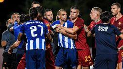 Porto-Roma, mega rissa: match fermato per 7 minuti