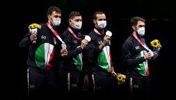 Olimpiadi, la sciabola a squadre sogna ma è solo argento