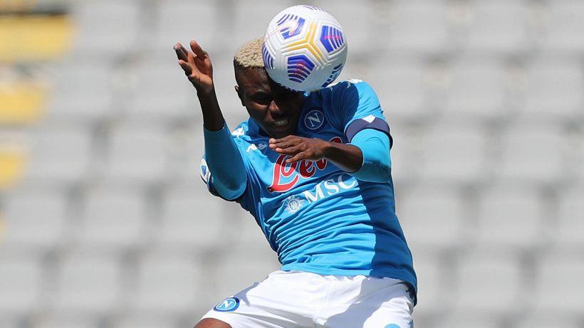 Napoli-Pro Vercelli 1-0: decide Osimhen, infortunio per Demme