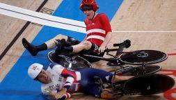 Olimpiadi: la clamorosa caduta in pista della Danimarca