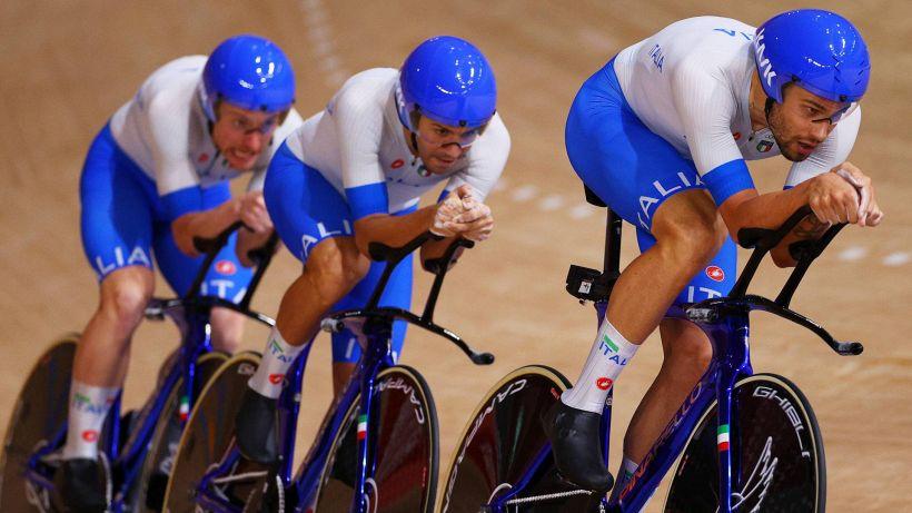 Ciclismo su pista: Italia da sogno! Oro e record del Mondo nell'inseguimento a squadre
