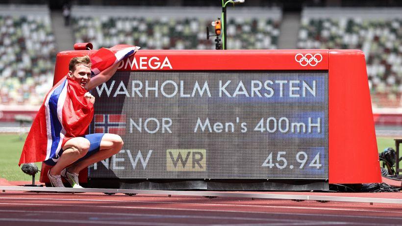 Pazzesco record del mondo di Karsten Warholm nei 400 hs maschili
