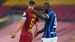 Lukaku e Dzeko in aeroporto: le parole ai tifosi di Inter e Roma