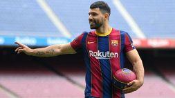 Il Barcellona perde Aguero: out dieci settimane