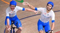 Ciclismo su pista, Ganna e Villa celebrano l'oro