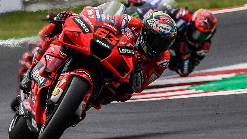 MotoGP, vince ancora la Ducati con Bagnaia. Misano omaggia Rossi