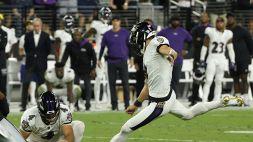 NFL, vittoria Ravens con un kick da record