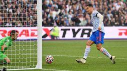 Ronaldo non si ferma più: in goal anche contro il West Ham