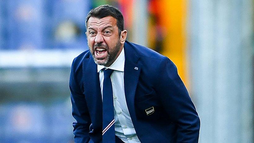 """Sampdoria, D'Aversa: """"Sconfitta esagerata per quanto fatto in campo"""""""