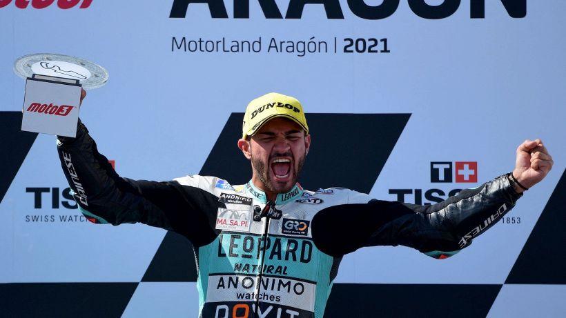 GP d'Aragona, trionfo di Dennis Foggia in Moto3