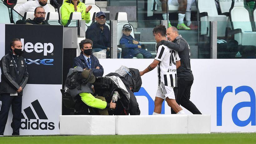 Problema muscolare per Dybala: infortunio in Juventus-Sampdoria