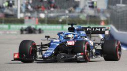 """F1, Fernando Alonso: """"Qui a Sochi l'Alpine sembra comportarsi bene"""""""