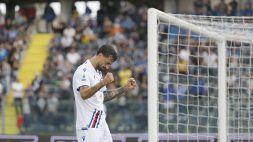 Caputo abbatte l'Empoli con una doppietta, la Sampdoria vince 3-0