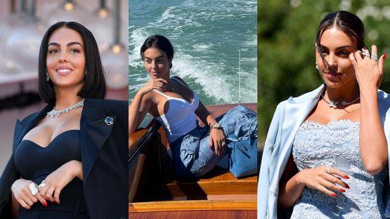 Georgina Rodriguez incanta Venezia: lady Cr7 sbarca al Festival