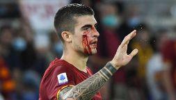 Roma-Udinese: il volto insanguinato di Mancini paralizza l'Olimpico