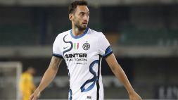 """Inter, si complicano i rinnovi dei Big: """"colpa"""" di Calhanoglu"""
